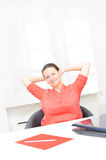 Real attractive businesswoman in her office Stock Photography