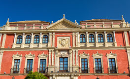Real Audiencia de los Grados的宫殿在塞维利亚,西班牙 库存照片