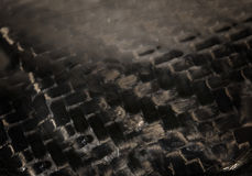Real authentic carbon fiber textile background Stock Photo