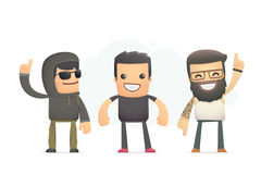 Real bad boys. Conceptual illustration Royalty Free Stock Photo