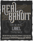 Real Bandit Typeface Poster Stock Images