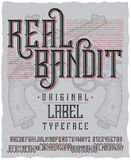 Real Bandit Typeface Poster Stock Image