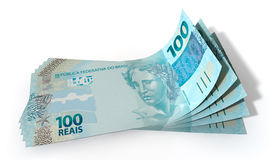 Real Bank Notes Spread Royalty Free Stock Photography