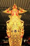 Real barge adentro el Museo Nacional de gabarras reales, Bangkok, Tailandia fotografía de archivo libre de regalías