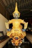 Real barge adentro el Museo Nacional de gabarras reales, Bangkok, Tailandia imágenes de archivo libres de regalías
