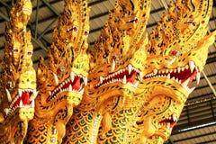 Real barge adentro el Museo Nacional de gabarras reales, Bangkok, Tailandia imagenes de archivo