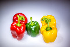 Real beautiful five bell paprikas Stock Images