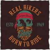 Real Bikers Poster Stock Image