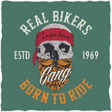 Real Bikers Poster Royalty Free Stock Images