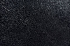 Real black leather background. Close-up. Macro of dark skin texture Royalty Free Stock Photography