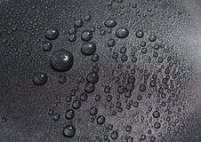 Real Black Water Drops Texture Stock Image
