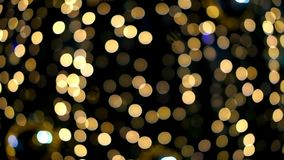 Real bokeh lights from Small LED lighting decoration for christmas and new year celebration