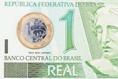 1 real brasileiro Fotos de Stock Royalty Free