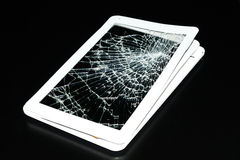 Real broken tablet Stock Photos