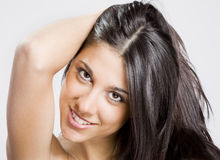 Real brunete young girl Royalty Free Stock Photography