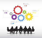 Real Business people with info graphic elements vector. Stock Photo
