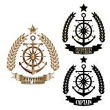 Real_captain_badge_set 皇族释放例证
