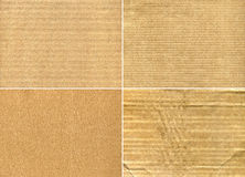 Real Cardboard Backgrounds. Four pieces of  real cardboard Stock Images