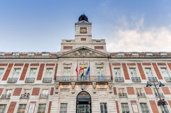 Real Casa de Correos building in Madrid, Spain. Stock Images