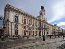 Real Casa de Correos Royal ταχυδρομείο Puerta del Sol, Μαδρίτη, Ισπανία Αυτό το κτήριο είναι στο μ Στοκ εικόνα με δικαίωμα ελεύθερης χρήσης