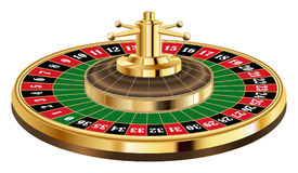 Real casino roulette on a white background Royalty Free Stock Photography