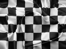 Real checkered flag Royalty Free Stock Photo