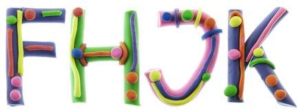 Real cheerful plasticine alphabet Stock Image