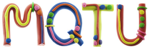 Real cheerful plasticine alphabet Stock Images