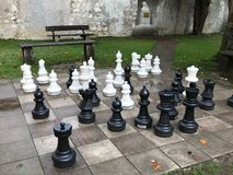 Real chess. Chess around the 10th century, after the arabs to various areas of Europe to Italy first, and then the Spanish and French.The end of the 11th century Stock Image