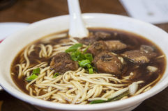 Real chinese food: beef noodles soup Royalty Free Stock Photography