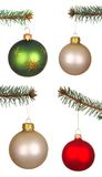 Real Christmas Balls set. Stock Images