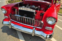 Real Chrome. Image showing classic auto beauty when they used chrome bumpers and made real cars Royalty Free Stock Image