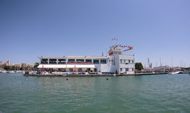 Real club nautico de palma 004. Palma de Mallorca´s sailing and yachting main club, the real club nautico de palma rcnp in the spanish island of Mallorca. Main Stock Photo