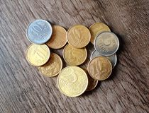Real coins Royalty Free Stock Image