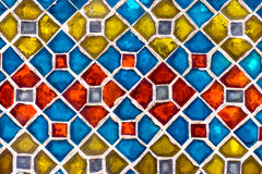 Real colorful tile pattern wallpaper Stock Images