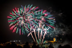 Real colourful fireworks Royalty Free Stock Photo
