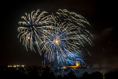 Real colourful fireworks Royalty Free Stock Image