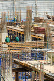 Real construction site from aerial view. Real construction site form aerial view seeing wide details Stock Photography