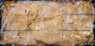 Real Contemporary Painting on Canvas Royalty Free Stock Image