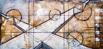 Real Contemporary Painting on Canvas Stock Images
