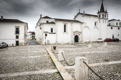 Real Convento das Chagas de Cristo in Vila Viçosa town on a rainy day, Évora. Portugal Royalty Free Stock Image