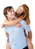 Real couple having fun Royalty Free Stock Images