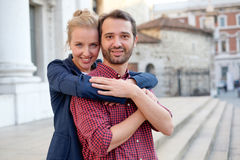 Real couple in love Royalty Free Stock Photos