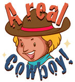 Real cowboy with text Stock Photography