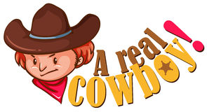 Real cowboy with text Royalty Free Stock Photos