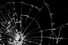 Real crack broken glass texture pattern royalty free stock photography