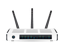Real 3d ADSL wifi modem router on a white background Royalty Free Stock Images