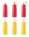Real 3d red and yellow sauce tube. A real 3d red and yellow sauce tube Royalty Free Stock Image