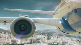Airplane take off Monaco royalty free illustration