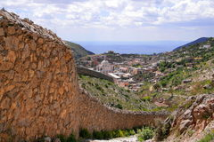 Real de catorce. Track between real de catorce and the ghost town in san luis potosi, mexico Royalty Free Stock Image